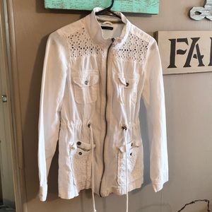 White Maurice's jacket